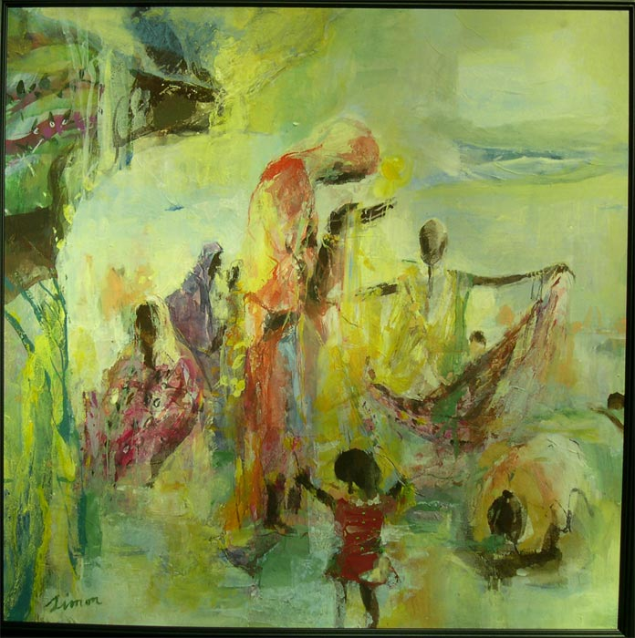 Painting Works about India Monsoon