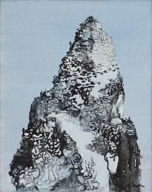 Paintings in Beijing Naked mountains Germ of a mountain