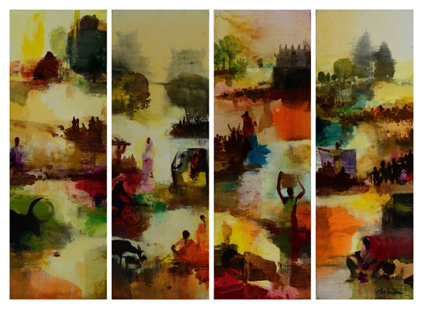 Paintings in Beijing landscapes South India