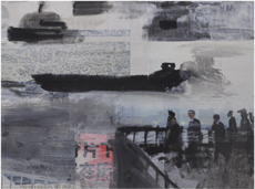 PEINTURE CHINE  Collages Shanghai river