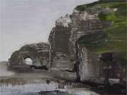 Paintings in Beijing landscapes Etretat